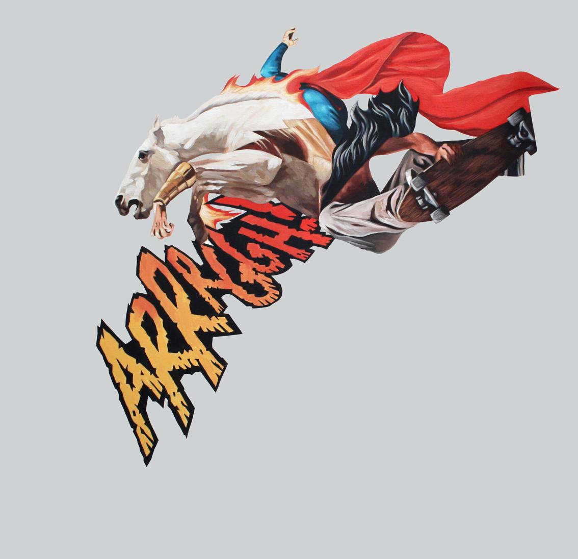 paint surrealism lowbrow comics art collage concept illustration superheroes oscargutierrez graphic
