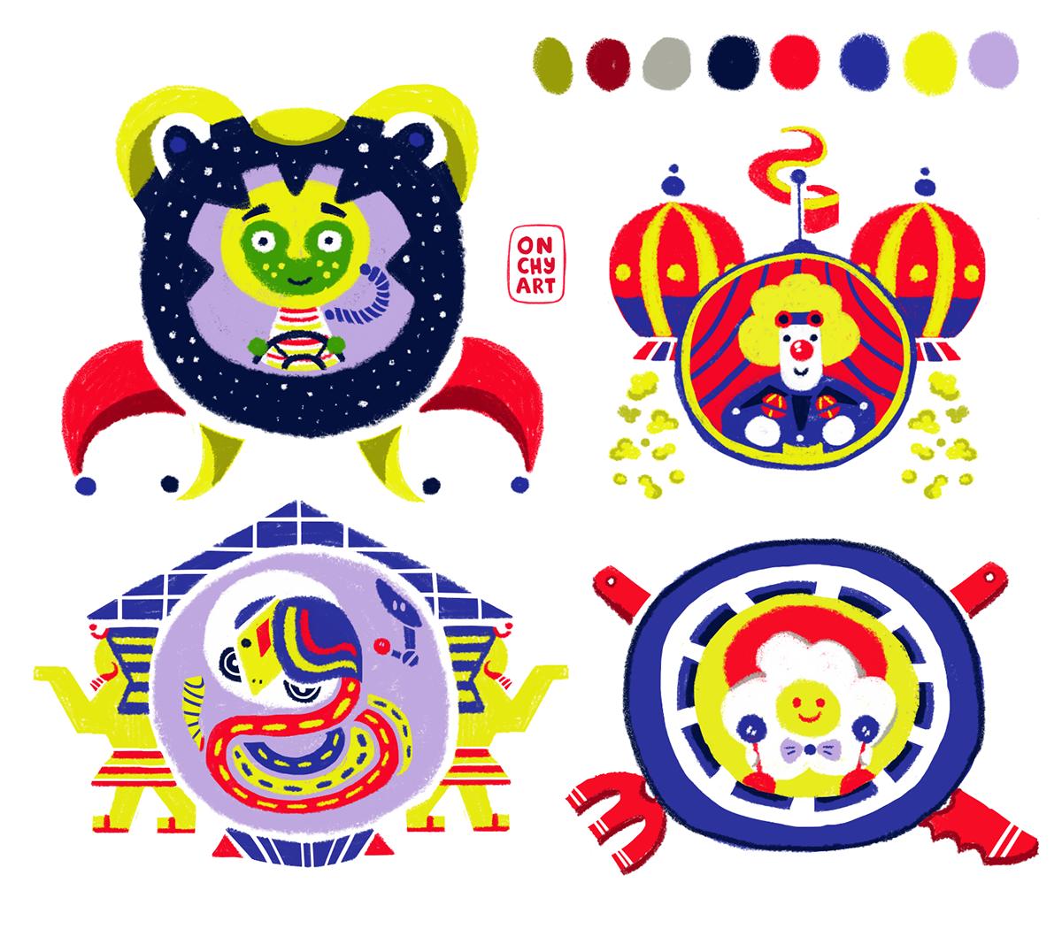 Character concepts Digital Art  future ILLUSTRATION