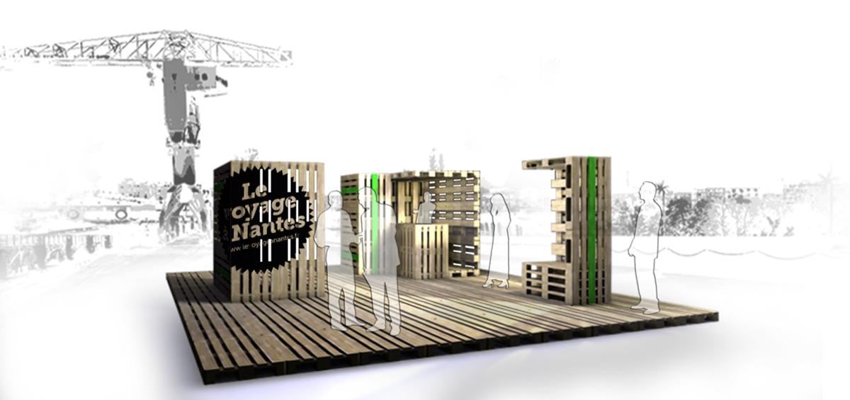 micro architecture kiosque pour le voyage nantes on behance. Black Bedroom Furniture Sets. Home Design Ideas