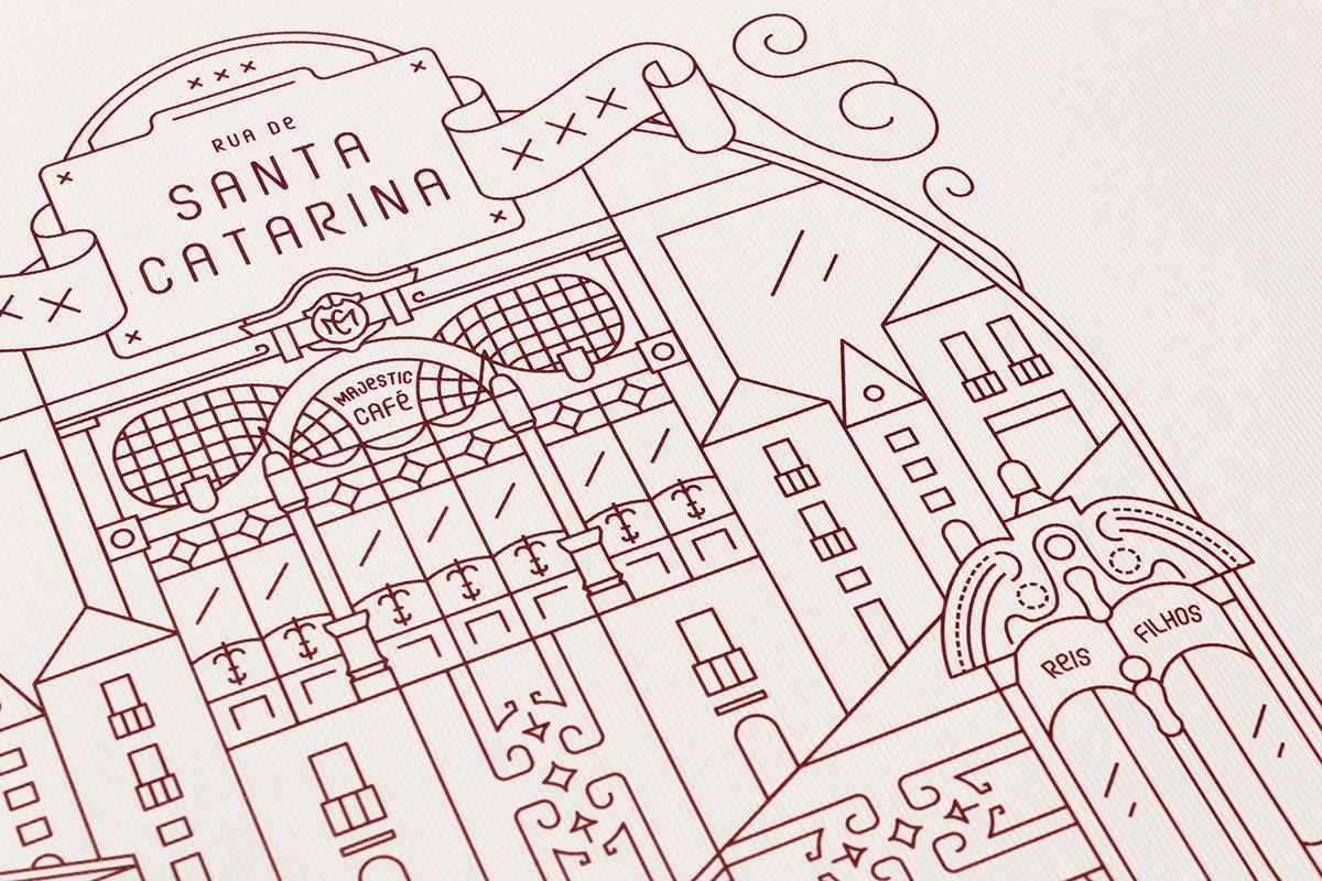 porto Portugal vector ILLUSTRATION  city architecture building Cities river line