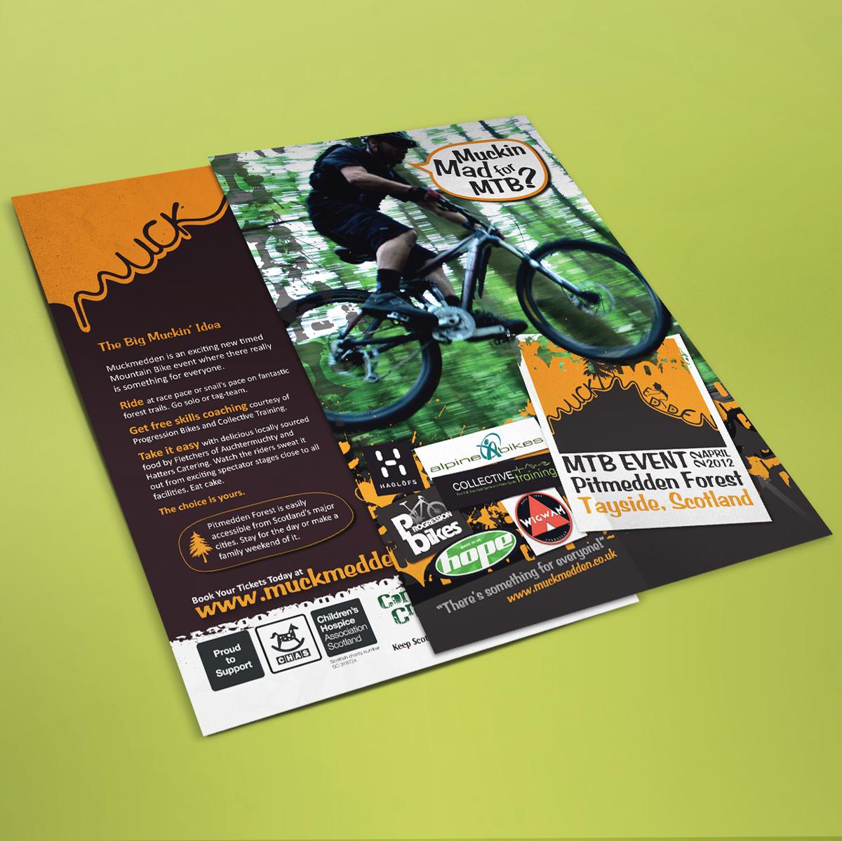 Adobe Portfolio MTB mountain biking poster t-shirt QR Code