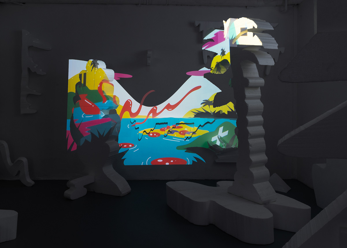 ILLUSTRATION  set design  projection video Digital Art  AR Display graphicdesign Experience
