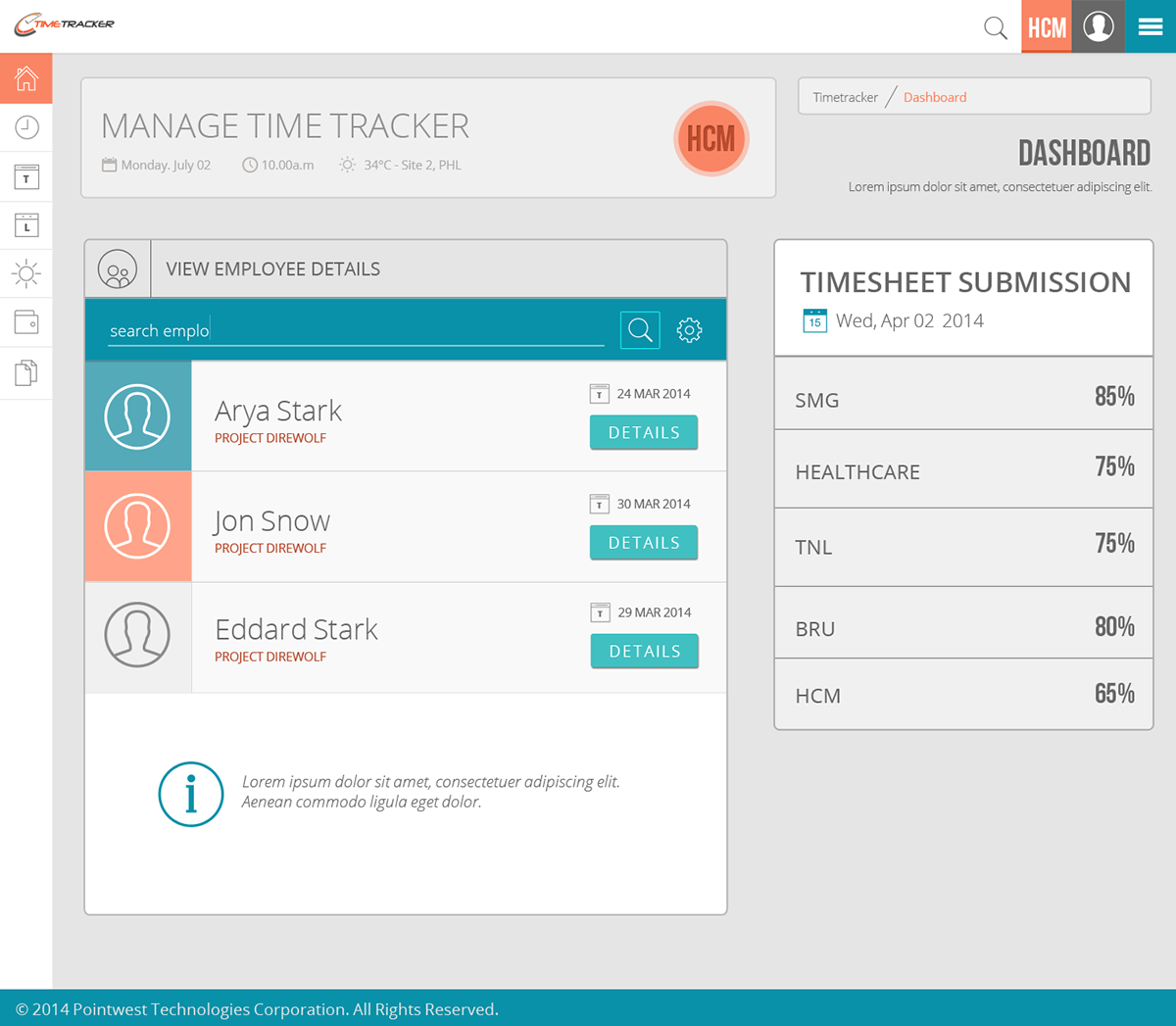 Timetracker Dashboard Re-design Concept on Behance