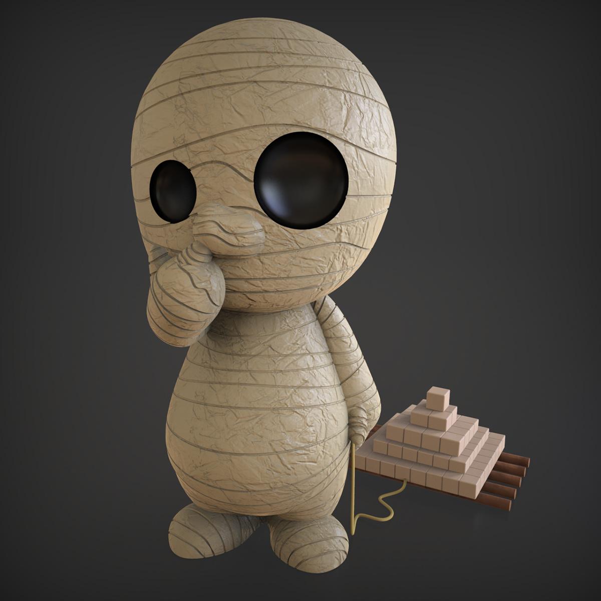 3d print monsters Rhino 3D toys