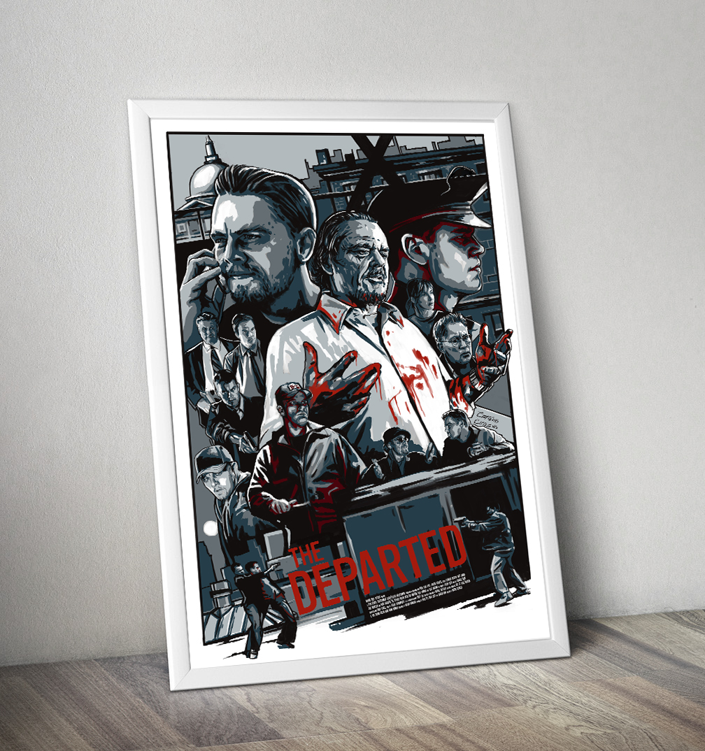 The Departed: Silkscreened Film Poster on Behance