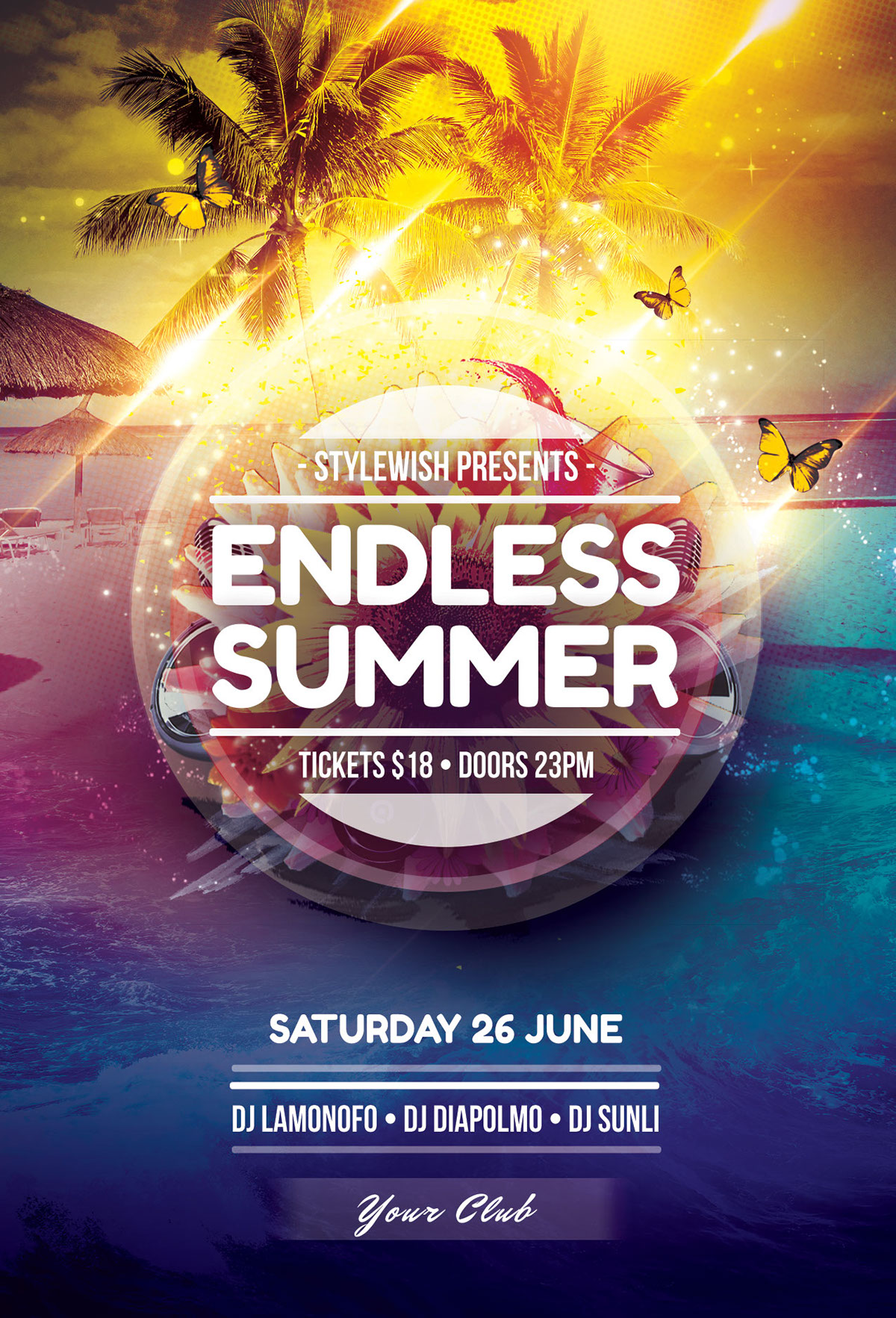 Endless Summer Flyer Template By StyleWish