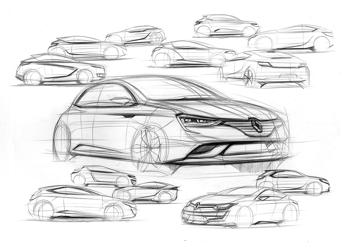 Renault concept car sketches on behance