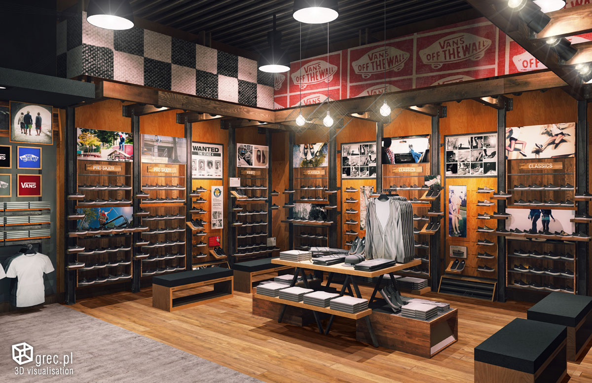 Vans Retail Stores on Behance Vans Outlet
