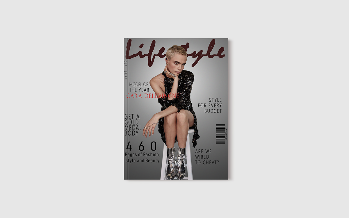Lifestyle Magazine Cover Design Fashion Magazine On Student Show