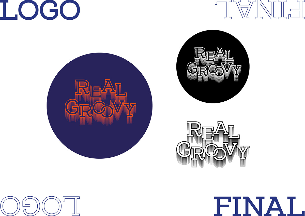 Real Groovy Records Re-brand - Client Brief on Student Show