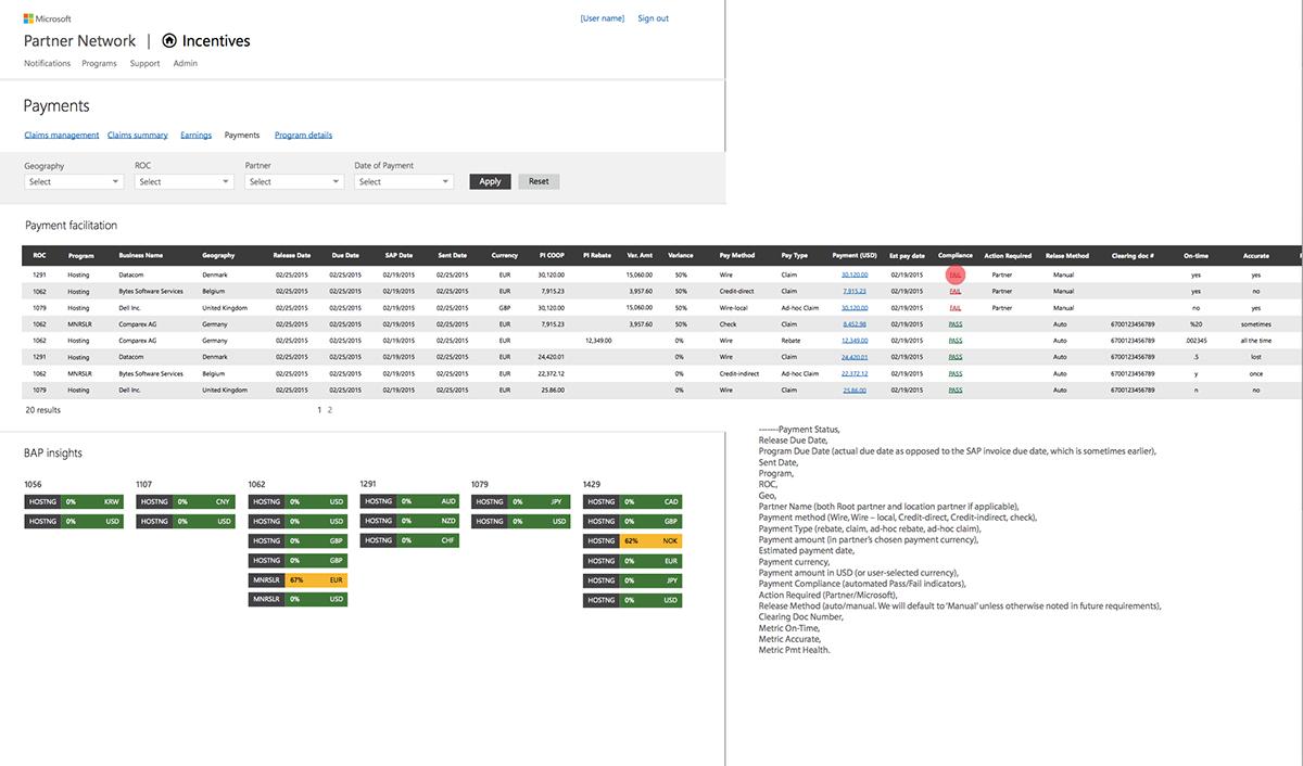 Data Platform payments