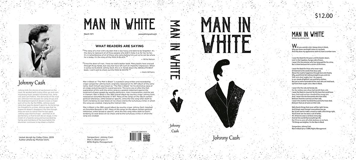 johnny cash black Man In Black Clites book book cover negative space dark adobeawards adobeofficehours