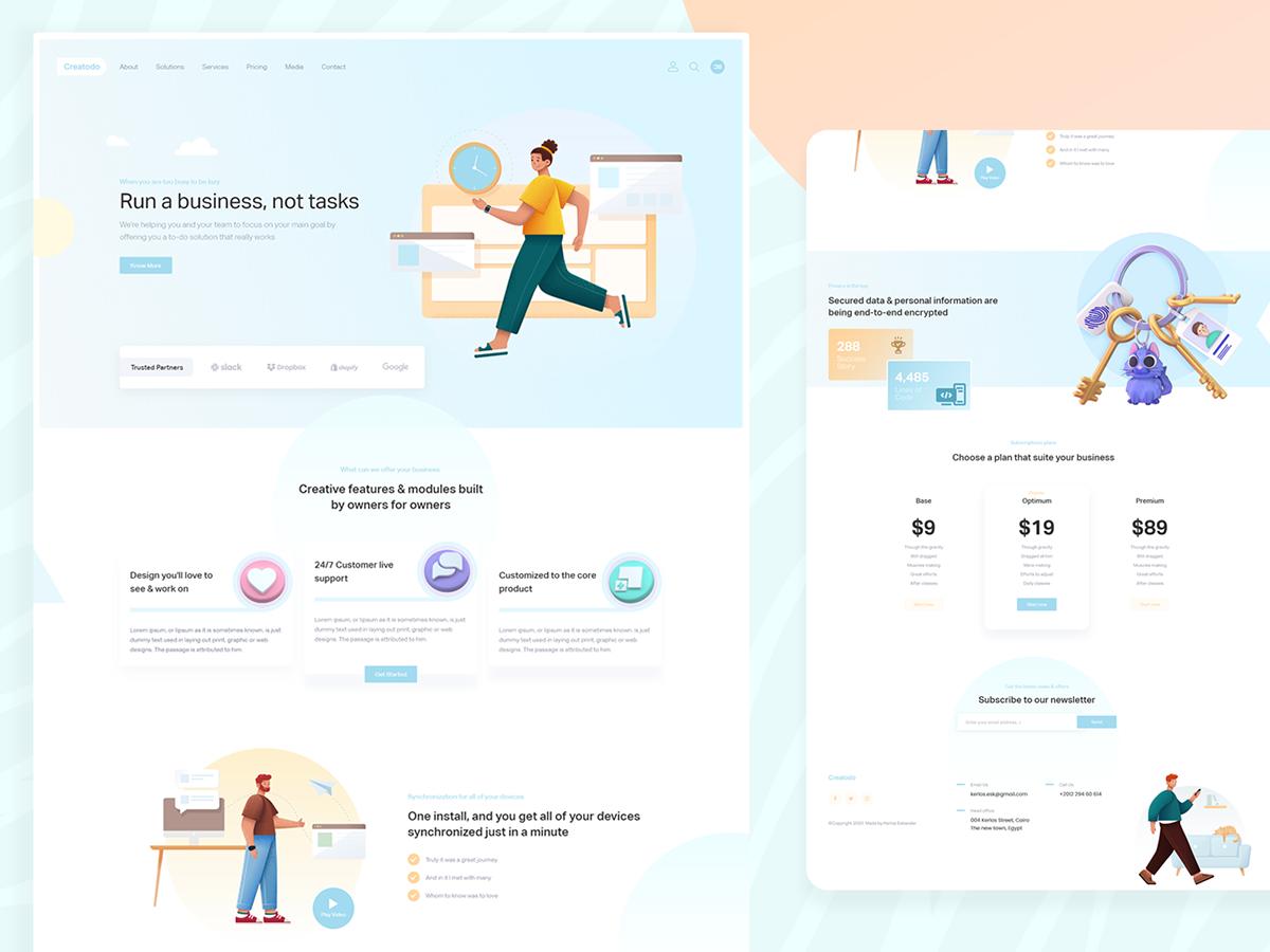 design homepage homescreen illustrations inspiration landing landingpage UI ux Webdesign