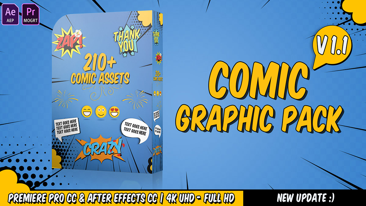 Comic Titles - Speech Bubbles - Emoji - Flash FX Graphi on Behance