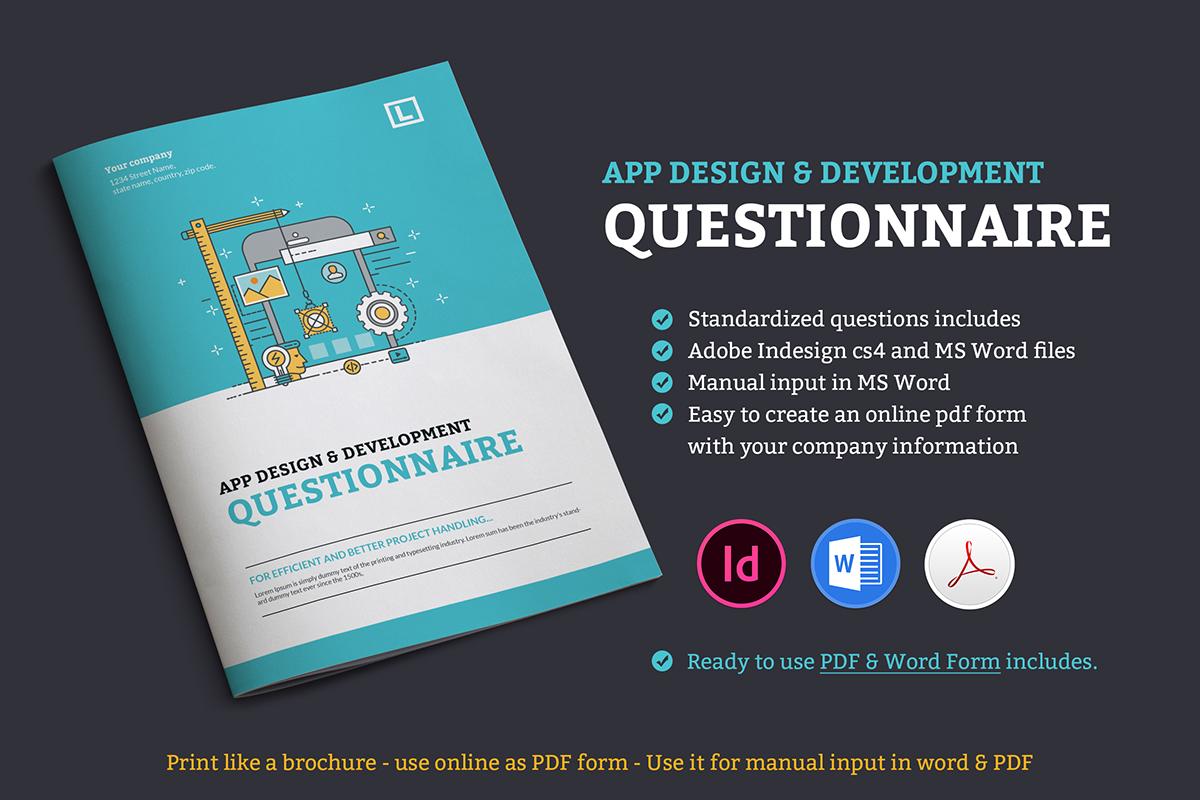 App design questionnaire on Behance
