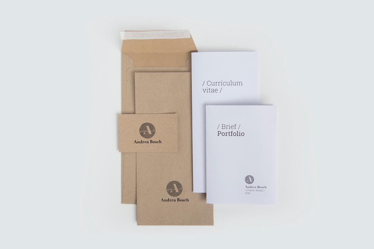branding  portfolio CV graphic design