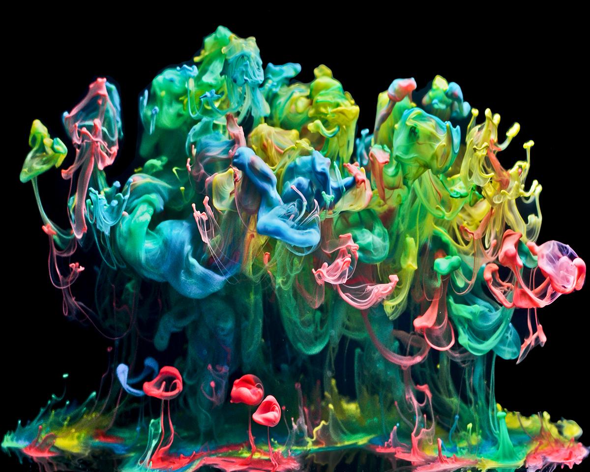 mixed media abstract water photoshop media Capstone Marshall