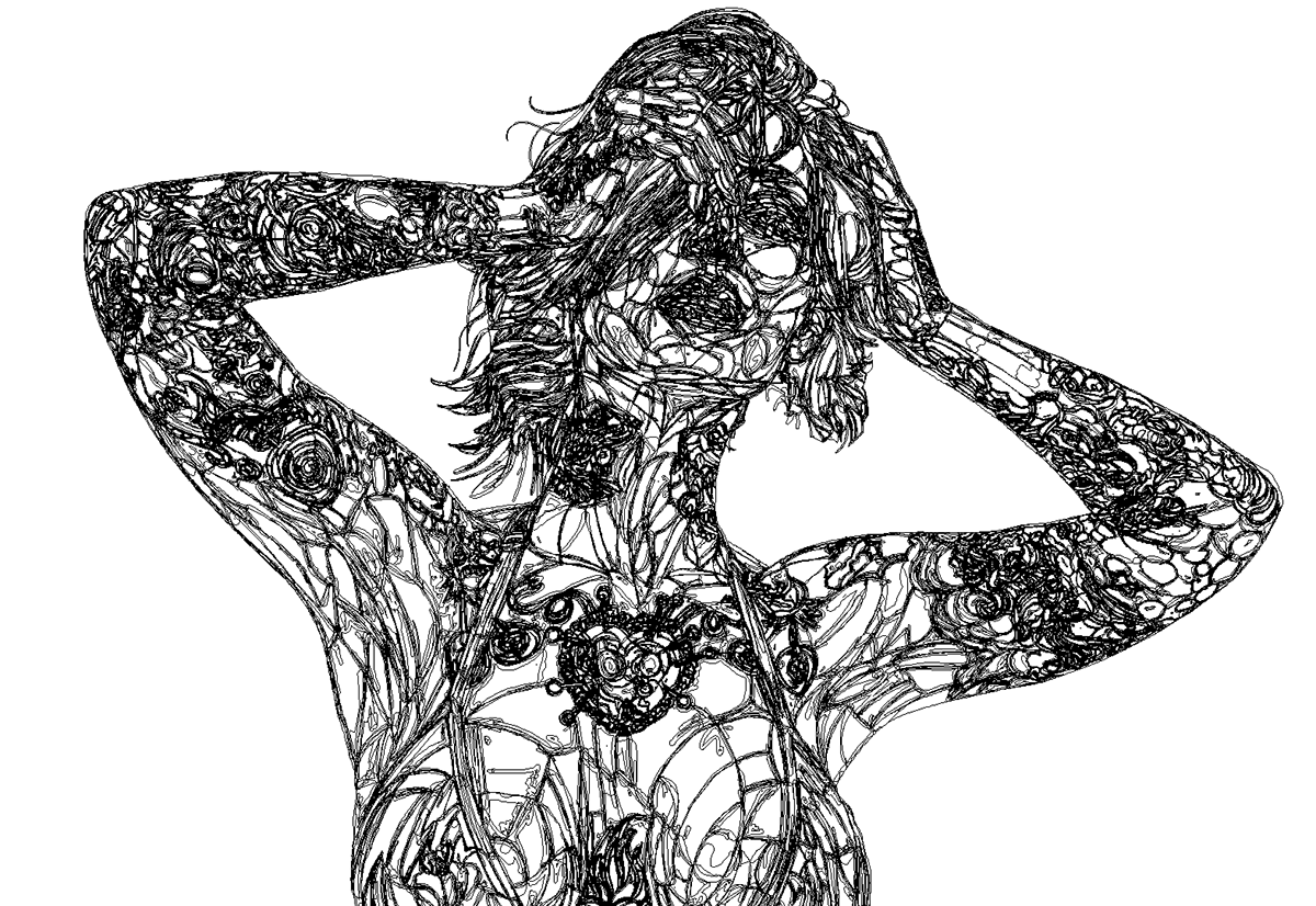 ILLUSTRATION  pinup vector art