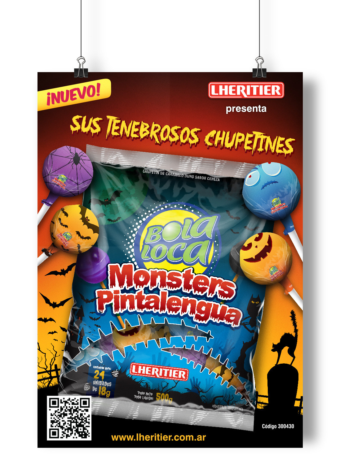chupetines Halloween