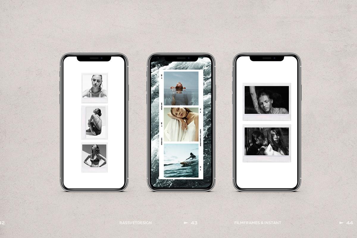 Film Frames & Polaroid Instagram Stories on Behance