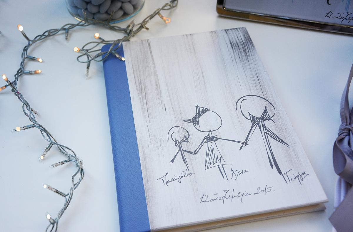wooden guestbook wedding guestbook Handlettering sketch