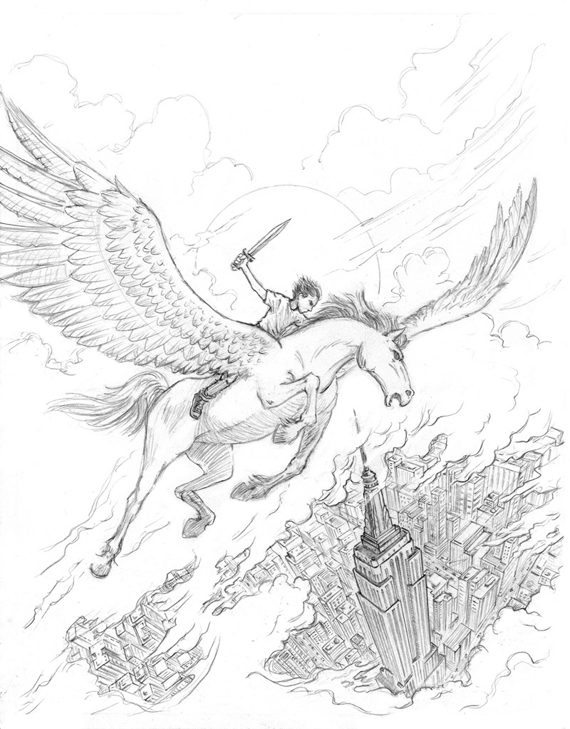 The Percy Jackson Colouring Book On Behance Percy Jackson Coloring Pages