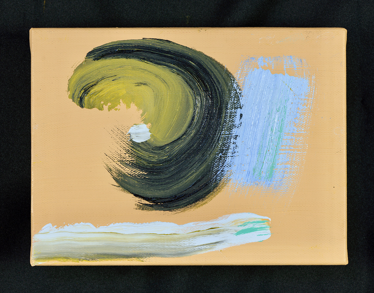 oil abstract whimsical bright waves