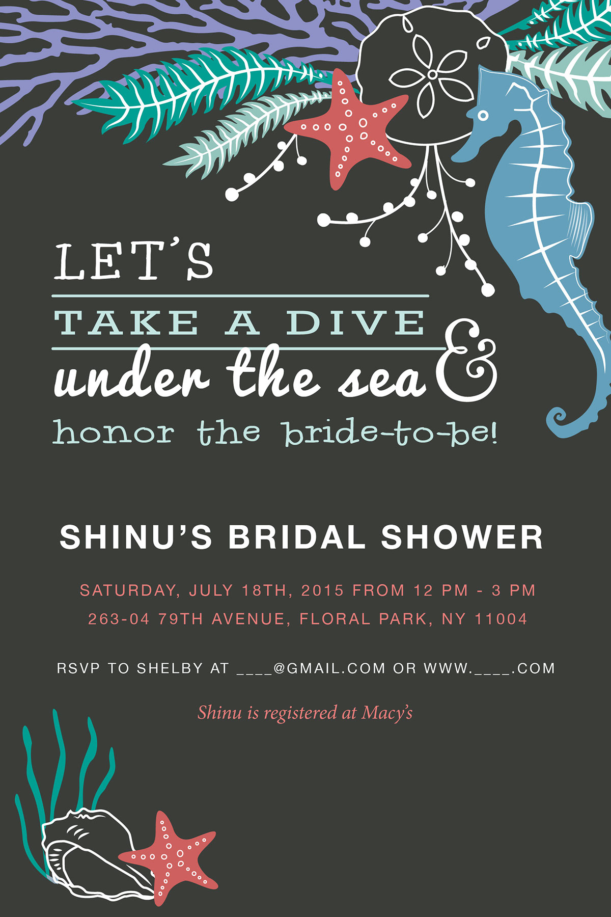 Playful sea themed bridal shower invitation on behance playful sea themed bridal shower invitation on behance filmwisefo