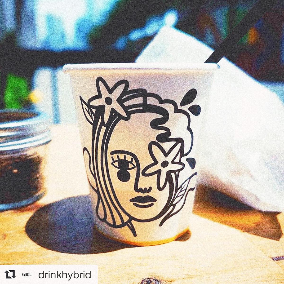 Coffee art newjersey ILLUSTRATION  artwork Drawing  ArtDirection