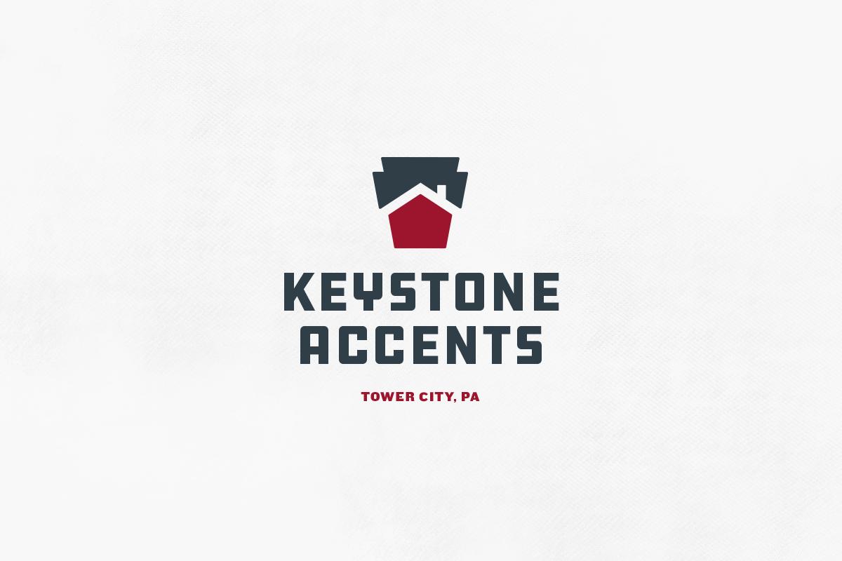logo brand identity mark keystone house construction