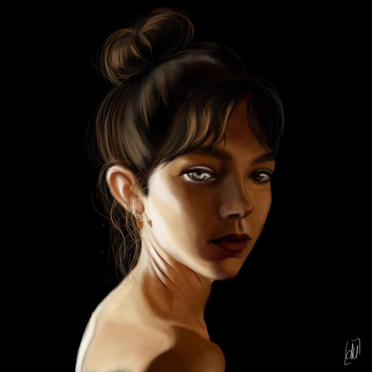 dark girl ILLUSTRATION  portrait