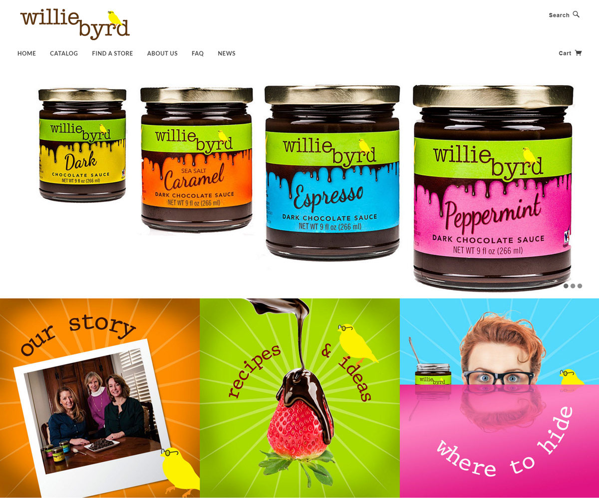 Food product colorful Fun Willie Byrd chocolate