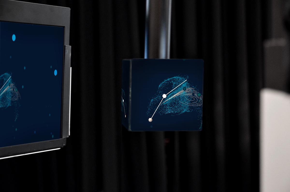 Adobe Portfolio,interactive,stereoscopic,media installation,chaos,Entropy,dynamical systems,processing,generative,reactive,Double Pendulum,science