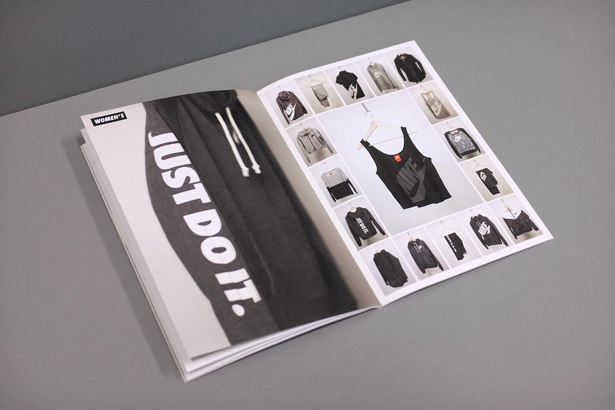Nike nike sportswear  print  book  Lookbook  branding  fashion  apparel
