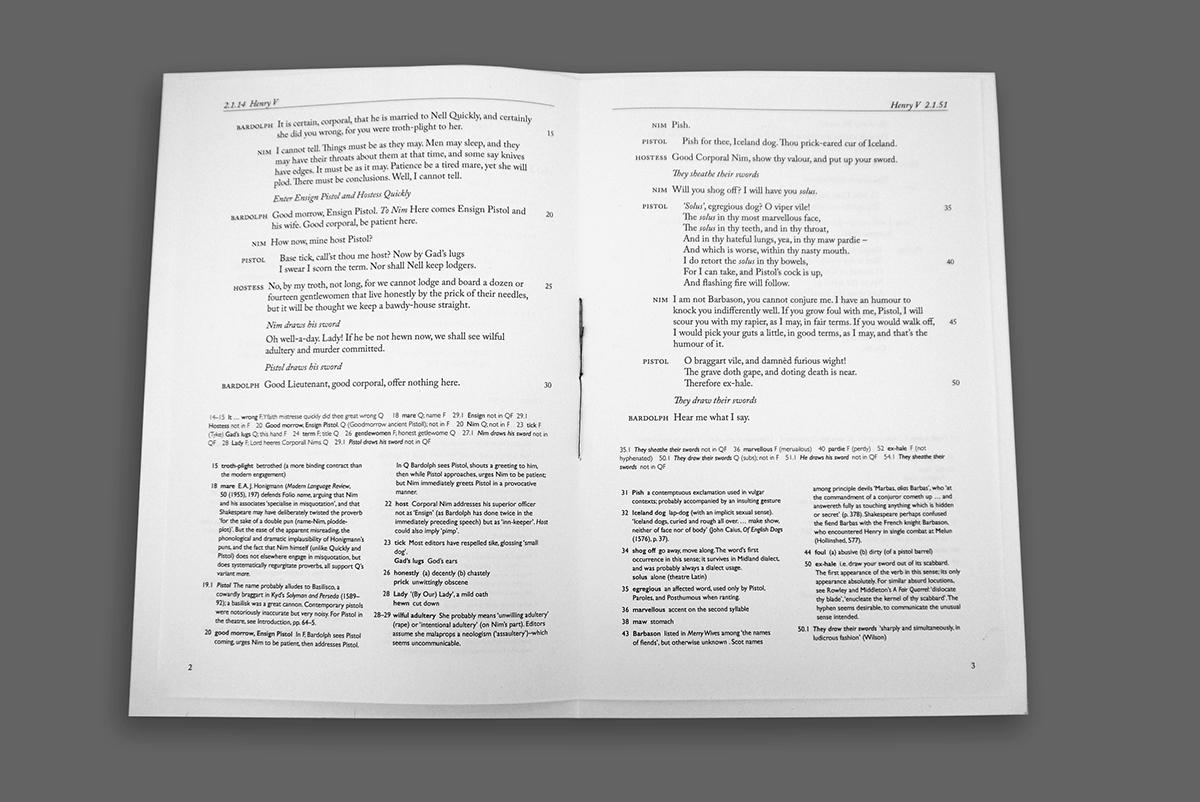 Shakespeare s Henry V book design project on Behance