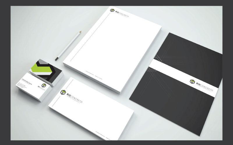 Image Development corporate image brand Illustrator Stationery business concrete construction