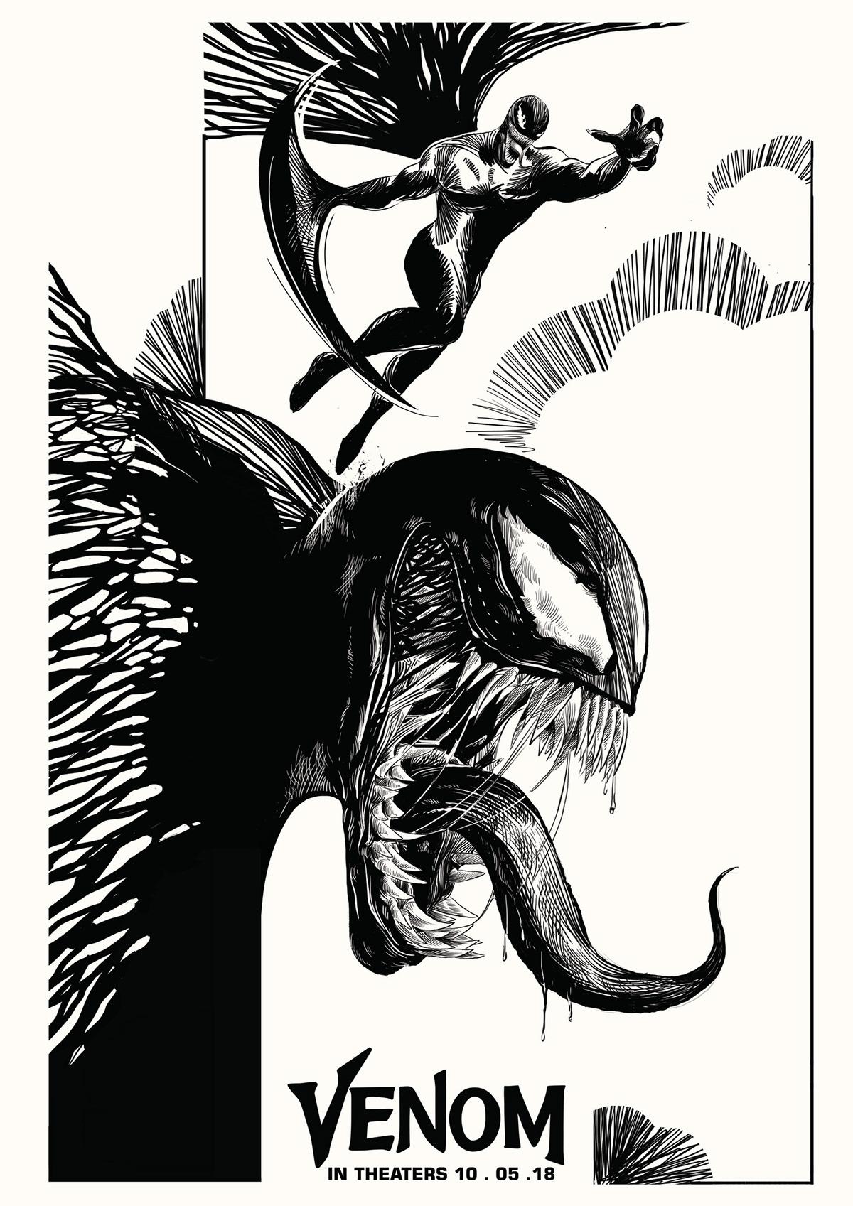ILLUSTRATION  Poster Design fanart Movie Posters graphic design  artwork Drawing  art