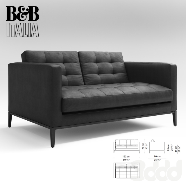 sofa 3dmodel 3D 3dmax corona Render b&bitalia
