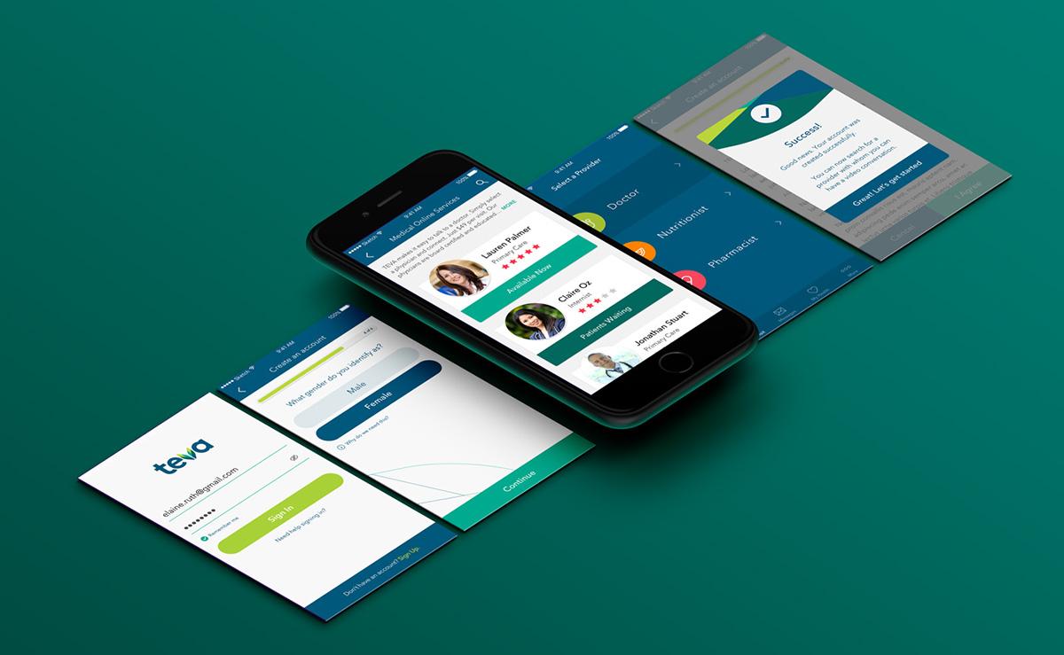 TEVA Medical App Design on Behance