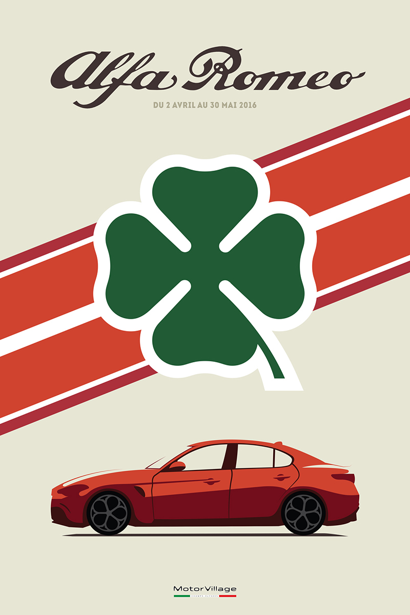 Alfa Romeo Posters On Behance - Alfa romeo posters