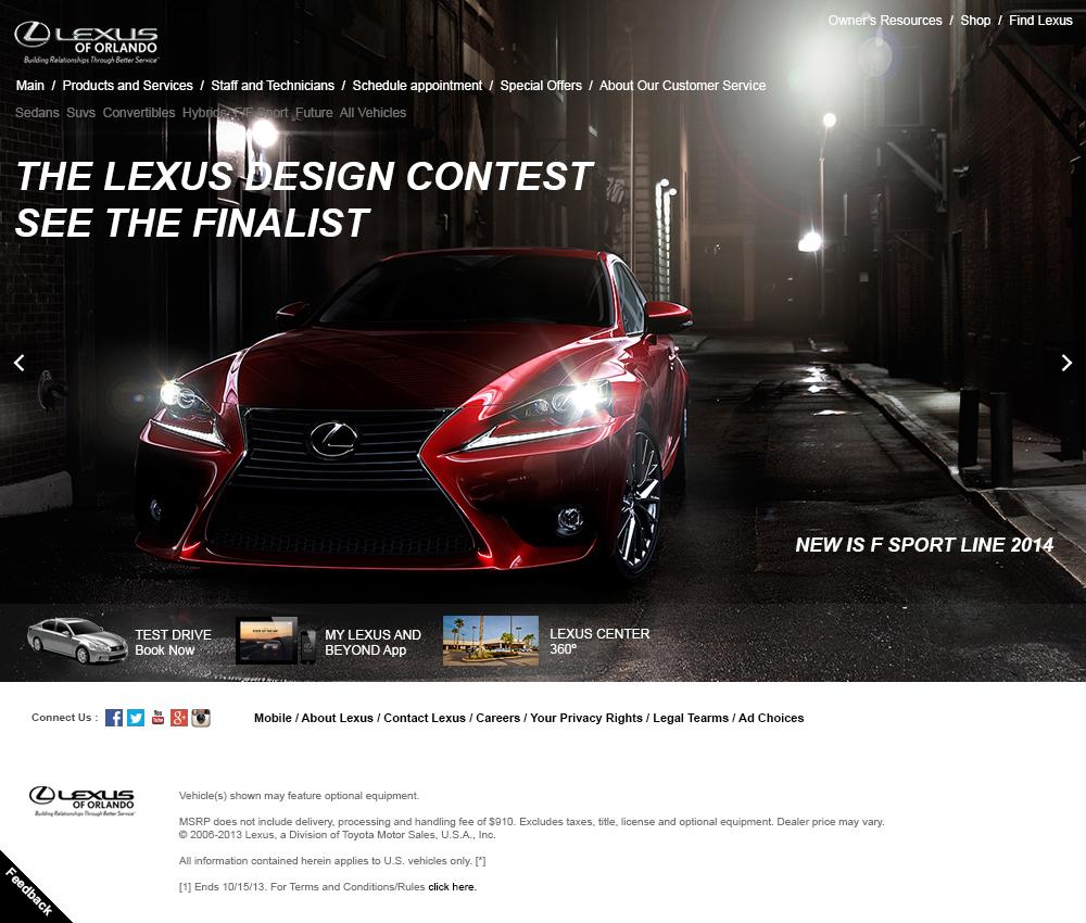 Lexus Website design automotive   car Web Design