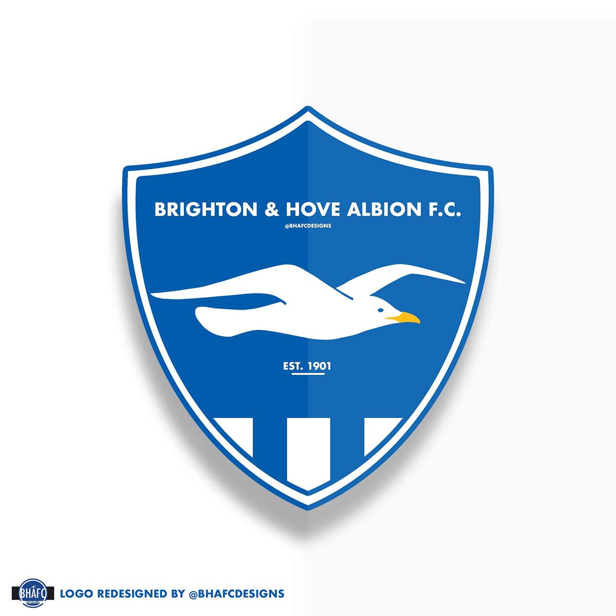 brighton hove albion f c logo redesign on behance