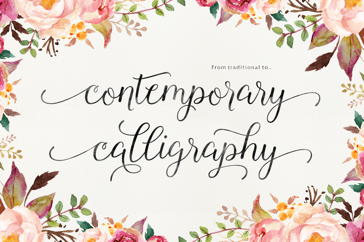 font Script Typeface wedding modern contemporary