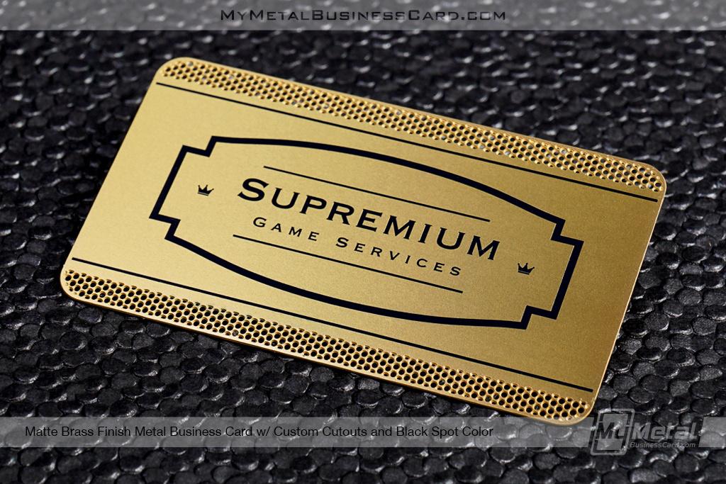 Matte brass finish business cards on behance colourmoves