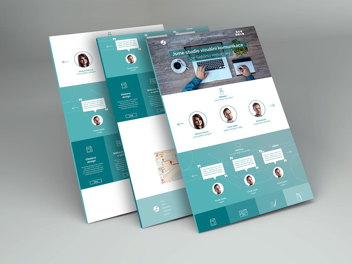 graphic studio homepage design