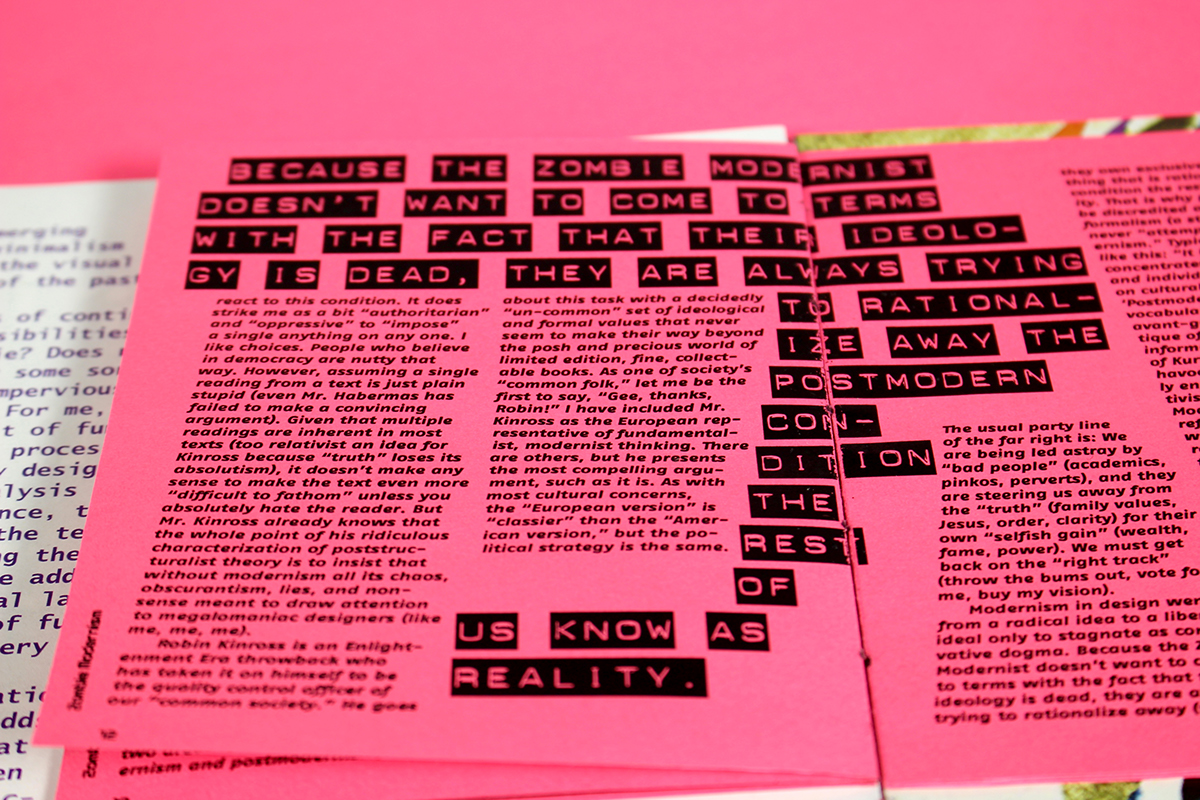 A Thesis For An Essay Should This Is A Book That I Typeset That Contains  Essays On Modernism And  Postmodernism By Katherine Mccoy Massimo Vignelli And Jeffery Keedy Essay Paper Generator also English Essay Topics For College Students Modernism Essays On Risd Portfolios Sample High School Essay