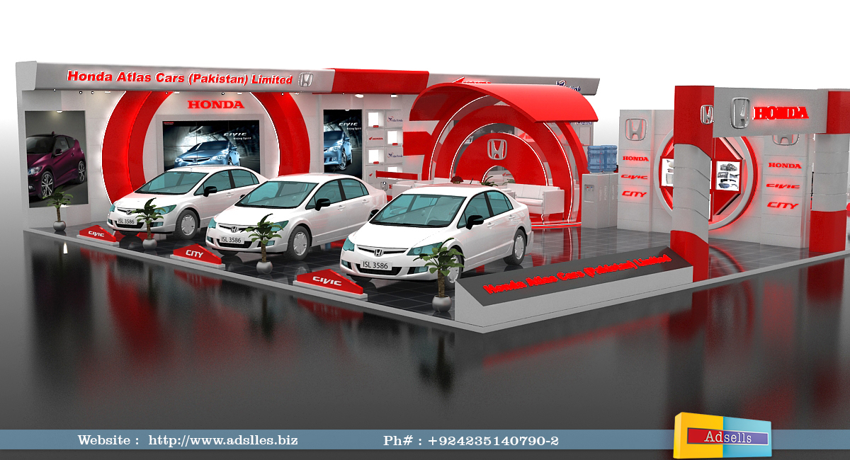 Exhibition Stall On Behance : Honda exhibition stall on behance
