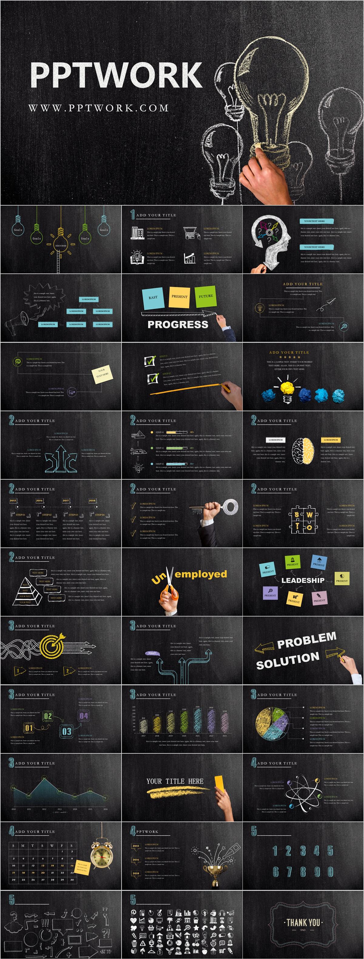 best blackboard newspaper infographics powerpoint templ on behance