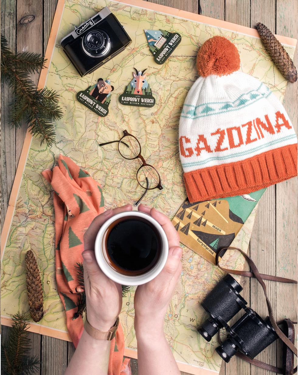 mountain gadgets mountains poland tatras tshirt hat winter vintage