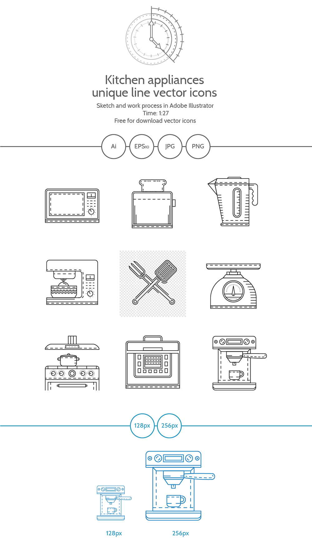 Free Line Icons Kitchen Appliances Video Process On Behance